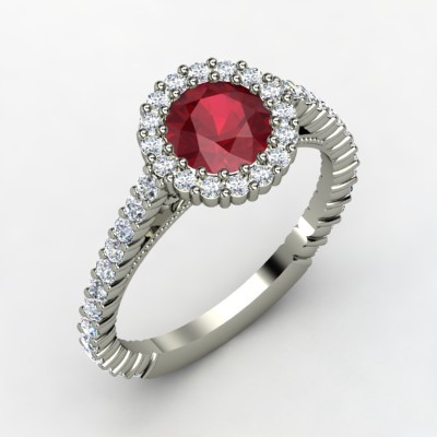 Raquel Ruby Engagement Ring