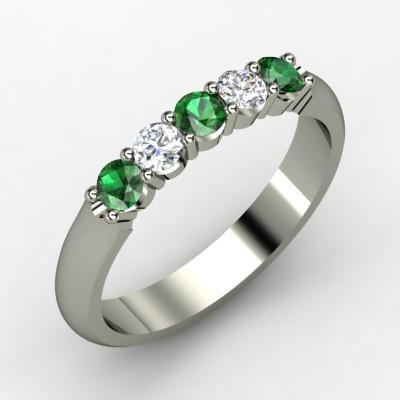 photo of Quintessense Emerald Wedding Ring
