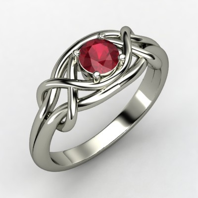 Infinity Knot Engagement Ring