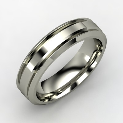 Band Thin Wedding Ring Floating Diamond Elegance Simple Men