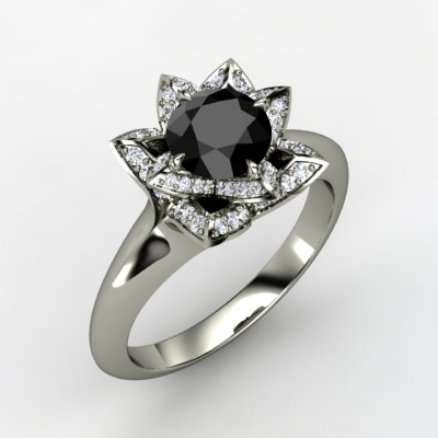 Lotus-engagement-ring-black-diamond-white-gold.full