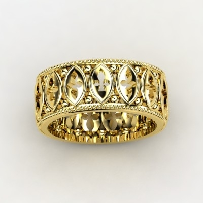 Cathedral Wedding Band