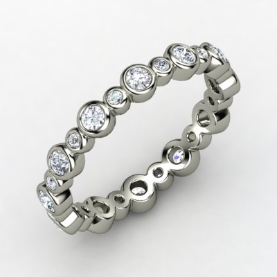 Heartbeat Wedding Band