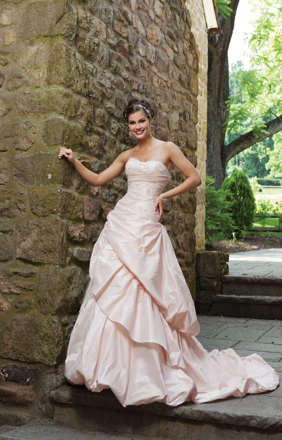 Pink Wedding Dresses Ireland : I spring pink wedding dress bebride full