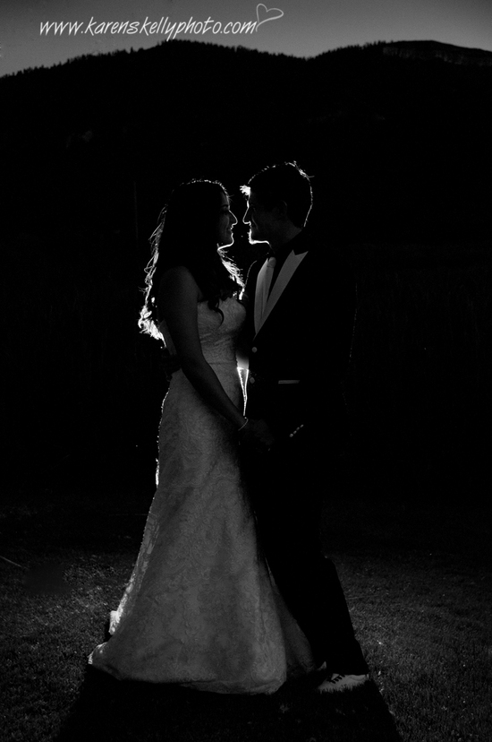 Bride and Groom Silhouette Durango Wedding Photography