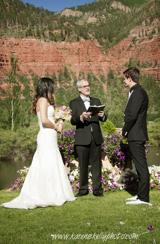 The Wedding Ceremony by Durango Wedding Photographer