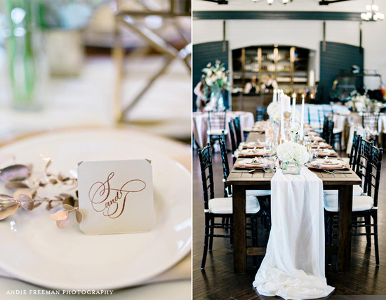 Copper and Gray Wedding