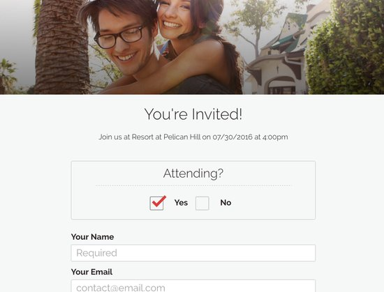 Your guests can RSVP right on your wedding website - now with complete guest list management
