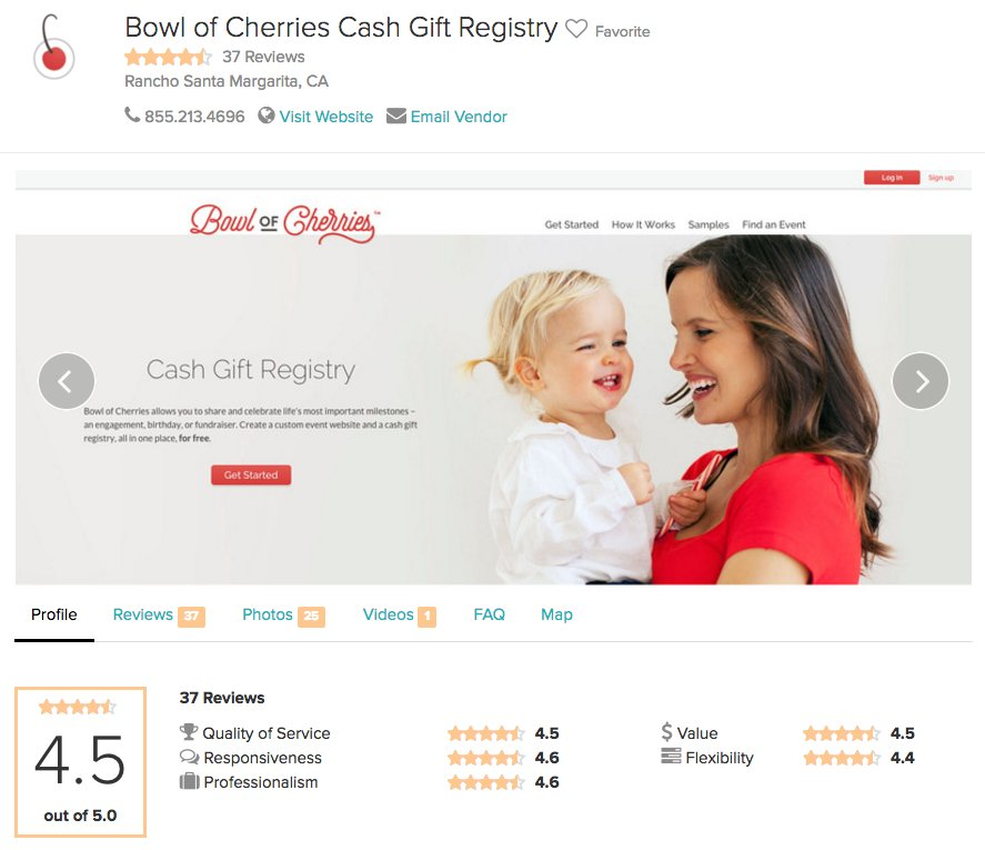 We Are The Top Reviewed Cash Gift Registry On Wedding Wire