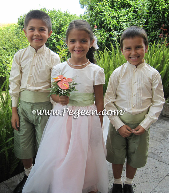 Pegeen-Flower-Girl-Dresses-style-802-with-modified-Ringbearer-Style-509