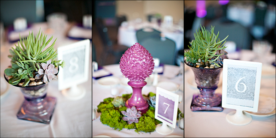 Purple Succulent Scrabble Wedding