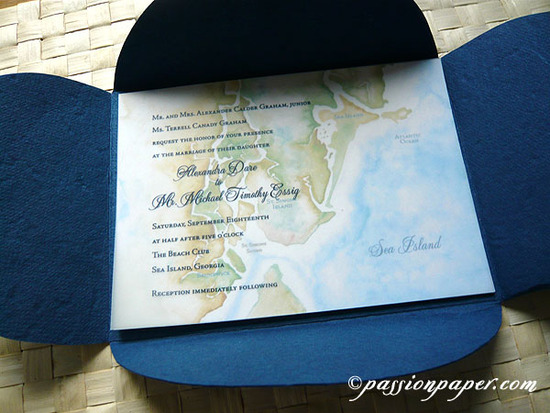 Sea Island Beach Invitations