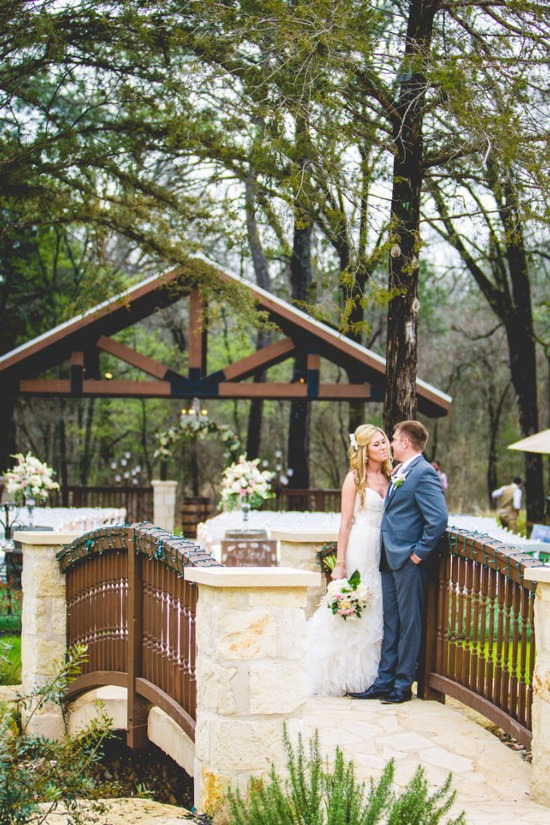 Outdoor Ceremony Site with Bridge