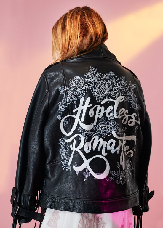"Houghton NYC ""Hopeless Romantic"" MC Jacket"