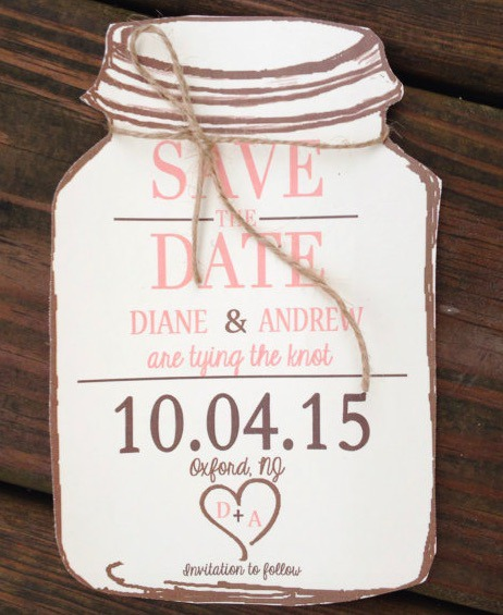 save the date with twine