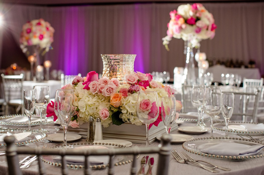 Pink Silver Wedding Decorations
