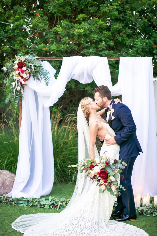 Destination Wedding Arch and Bouquet