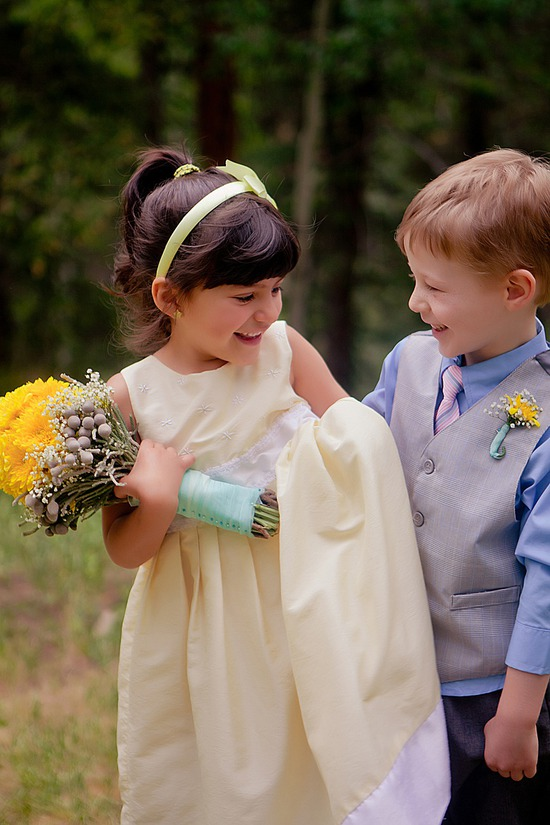 flower girl and ring barer wedding photographer