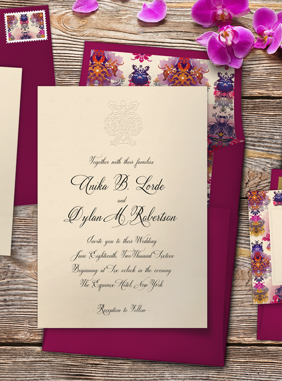Deconstructed Damask Invitation