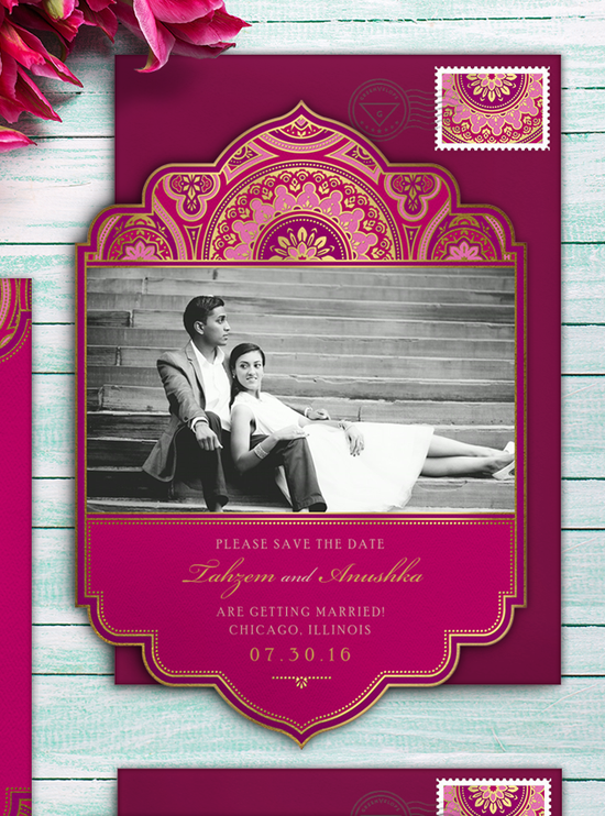 Indian Inspired Save the Date