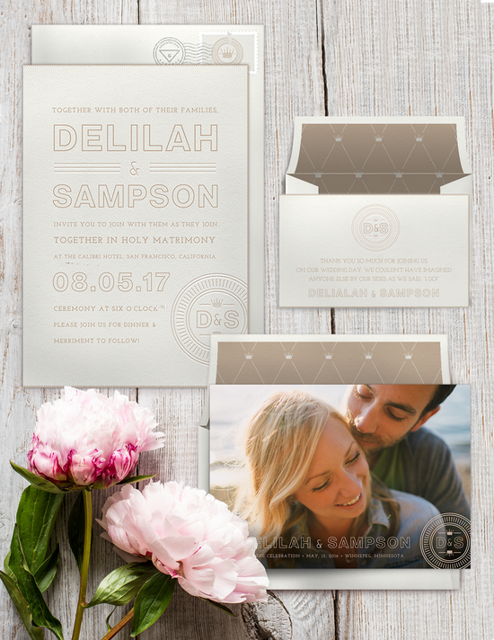 Royal Monogram Invitation Suite