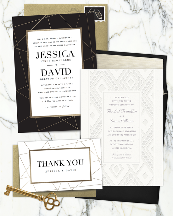 Geometric Inspired Invitations