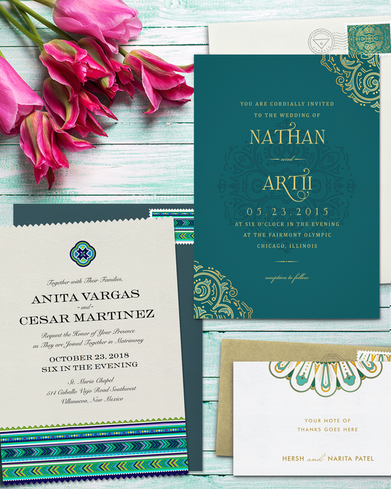 Indian Inspired Wedding Invitations