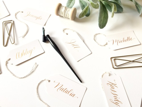 Calligraphy Place Cards or Favor Tags