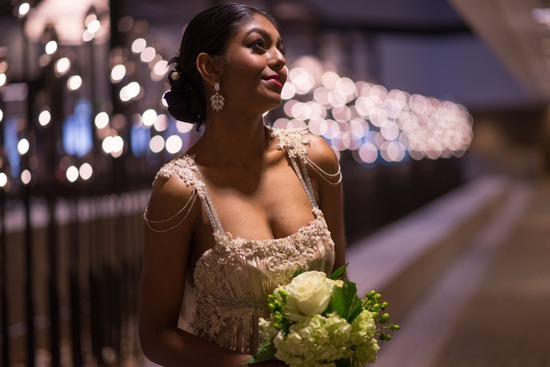 Modern Vintage Bride by Candlelight
