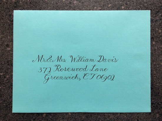 Copperplate Outer Envelope