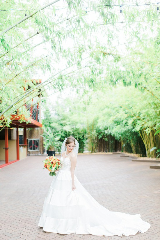 Courtyard Ceremony in Private Brick and Bamboo Courtyard