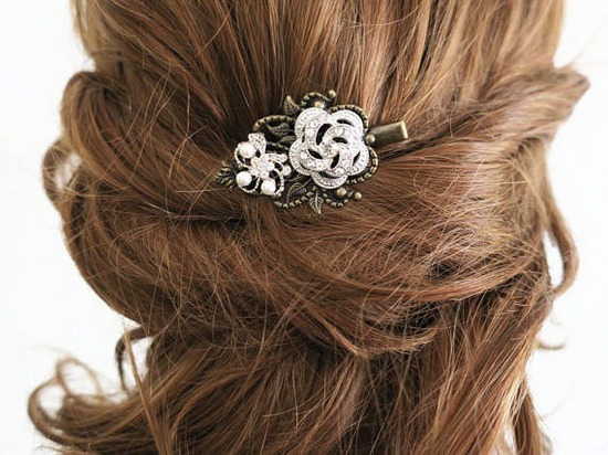 Wedding Hair Clip Bridesmaid Hair Pin Crystal