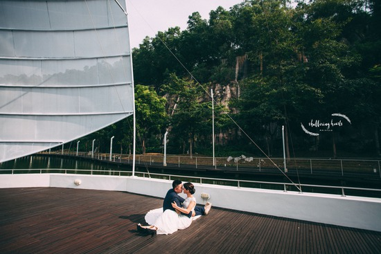 Pre-wedding shoot on yacht