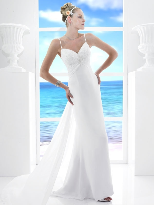 T485-white-column-wedding-dress-spring-2011-casual-beach-wedding-style.full