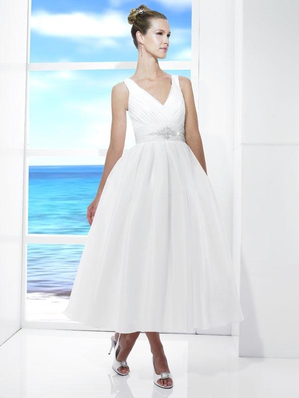T472-spring-2011-casual-white-wedding-dress-tea-length-v-neck-jeweled-cumberbund.full
