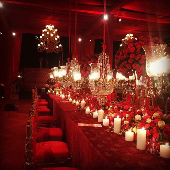 Red Wedding Ideas Reception: Versace Mansion Wedding Fuschia