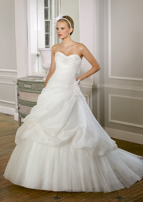 mori lee wedding dress 2016 organza tulle princess