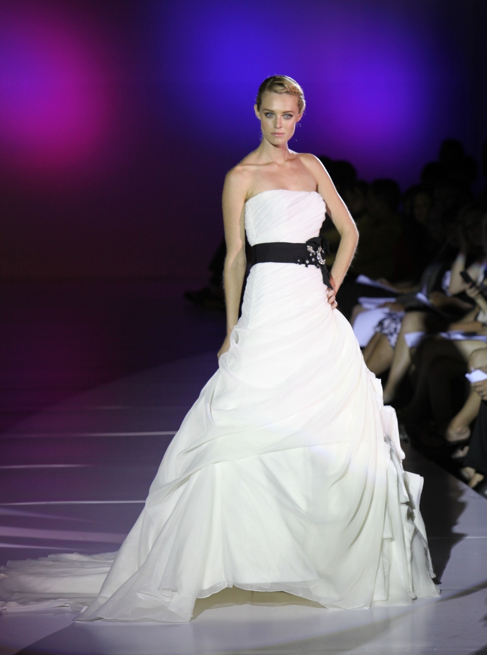 Blue-by-enzoani-spring-2011-a-line-wedding-dress-bustle-duchess-satin-black-sash.full