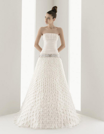 Aire-barcelona-navio-silk-a-line-strapless-wedding-dress-jeweled-belt-textured-skirt.full