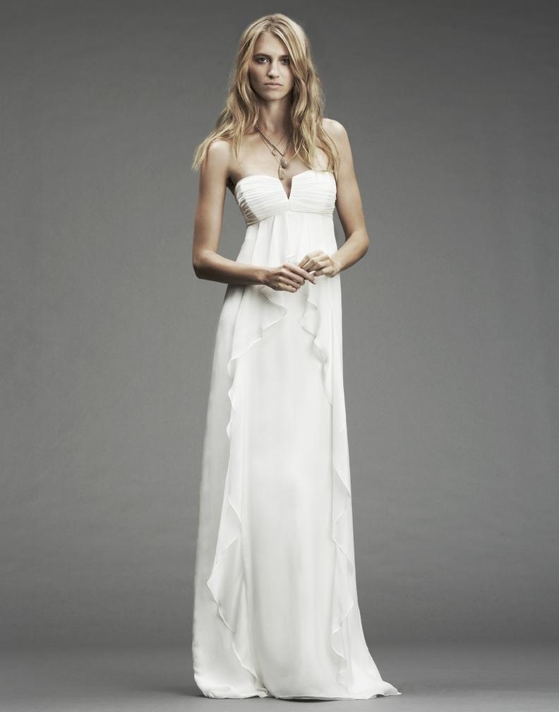 Fa0026 for Nicole miller strapless wedding dress