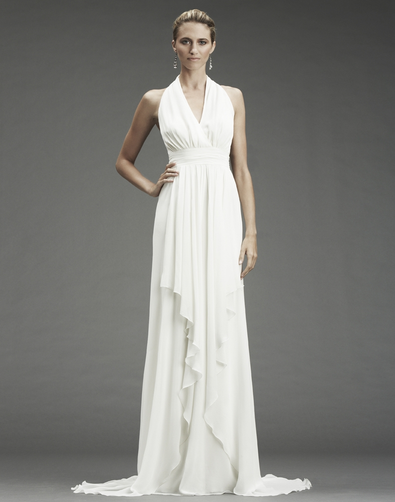 white grecian gown Zc*inwYyyI grecian wedding dress FA OneWedcom