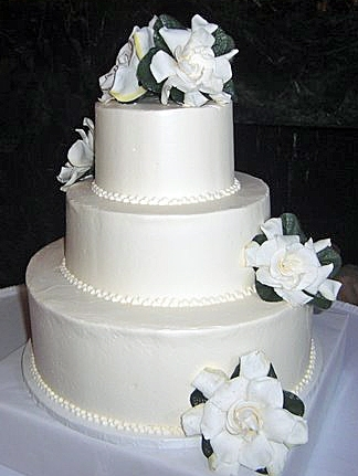 Classic White Buttercream with Gardenias