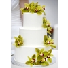 White-wedding-cake-beach-destination-wedding-3-tier-green-purple-orchids.square