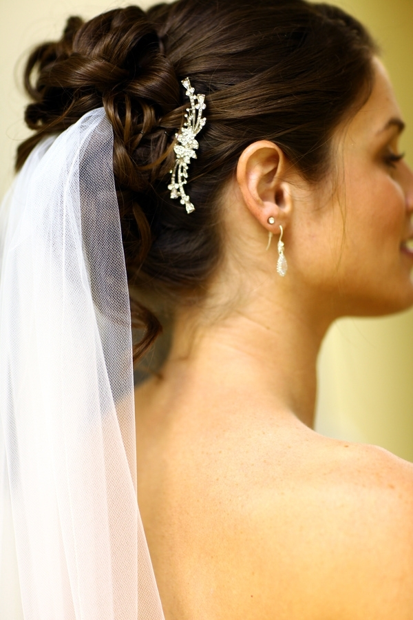 wedding hair veil styles soft updo 5725