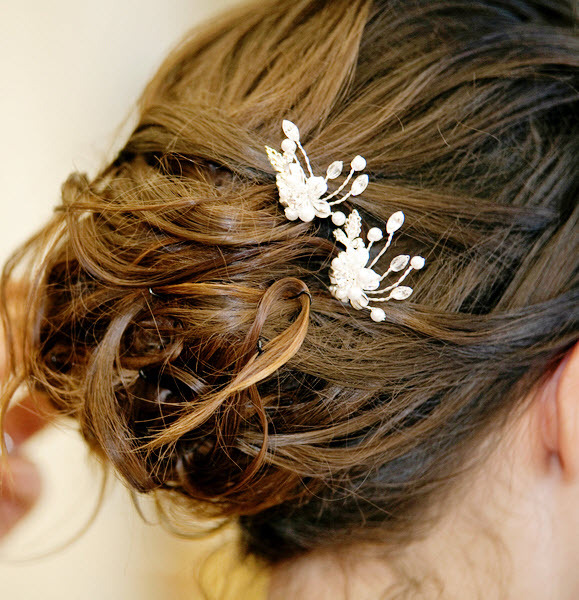 Bridal-hairstyles-brunette-all-up-updo-messy-curls-pearl-rhinestone-hair-accessories.full