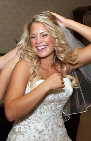 Bridal-hairstyles-blonde-bride-half-up-loose-wavy-curls-beaded-strapless-wedding-dress.full