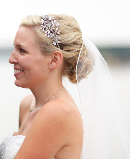 Wedding Hairstyle With Headband: Banded Knot
