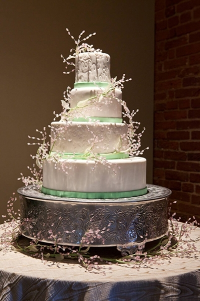 photo of Earthy Spring Wedding Cake