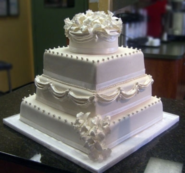 Classic Three Tier Marble Wedding Cake