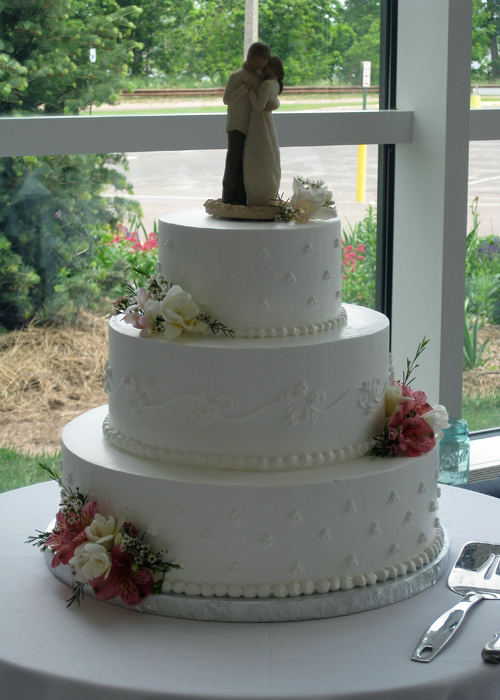 Classic Three Tier Marble Wedding Cake